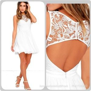 Lulus White Dress sz S